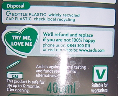 Disposal: BOTTLE PLASTIC widely recycled