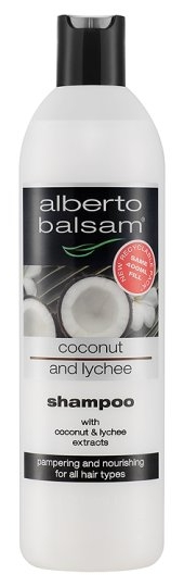 Alberto Balsam Coconut and Lychee Shampoo (400ml) [Source: Tesco]